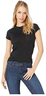 Free People Night Sky Tee Solid (Black) Women's T Shirt