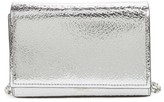 Michael Kors Yasmeen Small Metallic Leather Clutch - Metallic