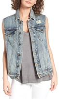 BP Troublemaker Embroidered Denim Vest