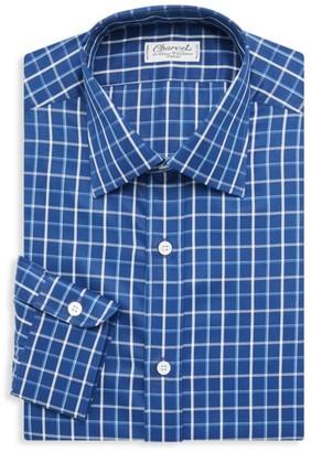 Charvet Checkered Cotton Twill Dress Shirt