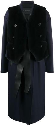 Blancha Contrast Lapel Coat