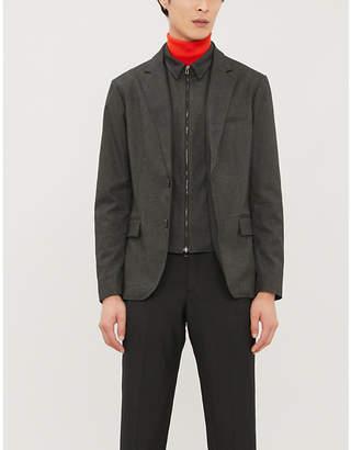 Emporio Armani Slim-fit stretch-woven blazer