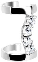 Body Candy 925 Clear Curved Double Ear Cuff