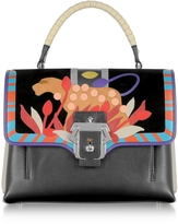 Paula Cademartori Petite Faye Leather Satchel Bag