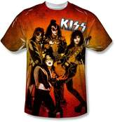 SIK Kiss Hard Rock Metal Band Rock N' Roll Music Band Poses Big Boys Front Print Tee