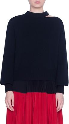 Akris Punto Luna Cut Wool & Cashmere Blend Sweater