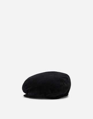 Dolce & Gabbana Stretch Velvet Flat Cap