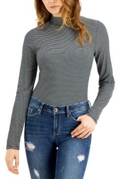 Self Esteem Juniors' Striped Mock-Neck Bodysuit