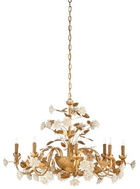 Chelsea House 8 - Light Candle Style Classic / Traditional Chandelier
