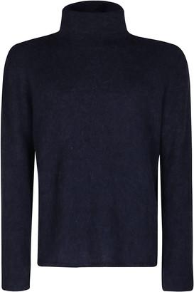 Lanvin Dark Blue Alpaca-cashmere-silk Blend Jumper