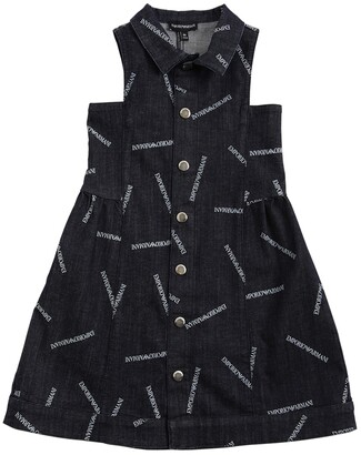 Emporio Armani ALL OVER PRINT STRETCH DENIM DRESS