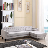 Aiden 3 Seater Sofa Chaise Side: Right