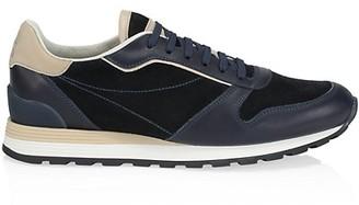 Brunello Cucinelli Colorblock Leather Sneakers
