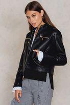 Twin-Set Giubbino Fake Leather Jacket
