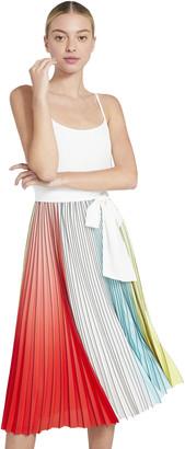 Alice + Olivia Vivienne Pleated Midi Dress