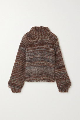 The Range Fog Knitted Turtleneck Sweater - Brown