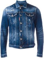 DSQUARED2 distressed jean jacket - men - Cotton/Spandex/Elastane - 46