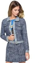 Juicy Couture Tweed Mixed With Denim Jacket