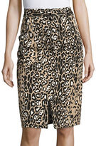 Tracy Reese Leopard-Print Skirt