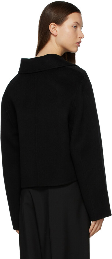 Thumbnail for your product : Acne Studios Black Wool Cropped Jacket