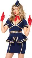 Leg Avenue Women's Plus-Size 3 Piece Friendly Skies Flight Attendant Costume
