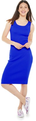 Almost Famous Juniors' Sleeveless Midi Dress with Twisted Open Back