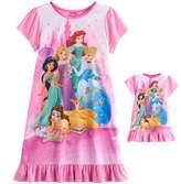 Disney Disney's Ariel, Rapunzel, Cinderella, Jasmine & Belle Girls 4-8 Nightgown & Doll Gown Set