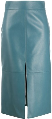 Givenchy Mid-Length Leather Pencil Skirt