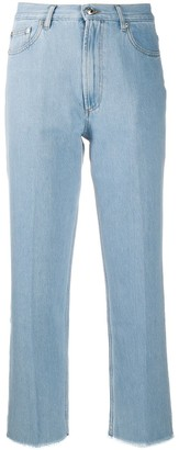 A.P.C. High Rise Cropped Jeans