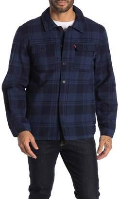 Levi's Plaid Flannel Zip Shirt Jacket