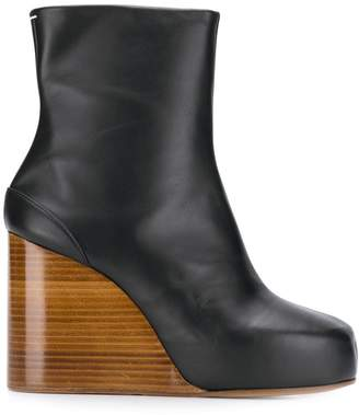 Maison Margiela wooden wedge ankle boots