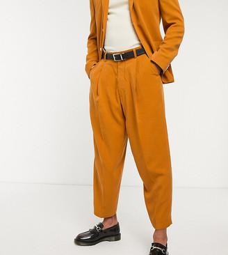 Reclaimed Vintage suit trousers in burnt orange