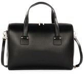 Celine Dion Triad Leather Satchel - Black