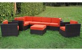 Atlantic Siena 8-piece Patio Set with Orange Cushions