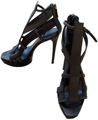 Gucci Grey Suede Sandals