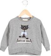 Kate Spade Girls' Cat Print Pullover Sweatshirt