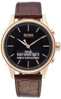 BOSS Classic Leather Strap Smart Watch, 44Mm