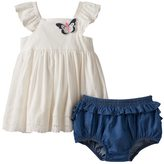 Nannette Baby Girl Eyelet Butterfly Top & Bloomers Set