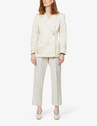 ART DEALER Brad textured-pattern satin blazer