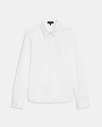 Theory Fitted Shirt in Cotton Jersey