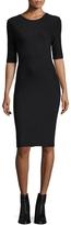 Armani Exchange Women's Solid Crewneck Dress