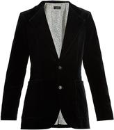 Joseph Albert single-breasted velvet jacket