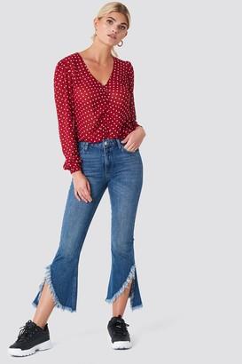 Rut & Circle Raw Asymmetric Hem Jeans