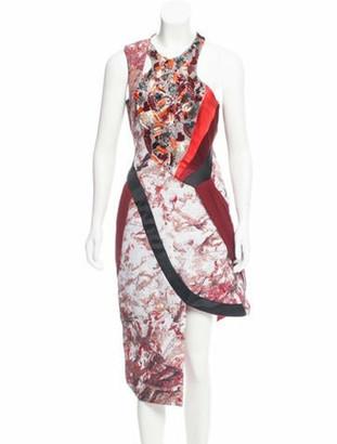 Prabal Gurung Embellished Midi Dress w/ Tags Red