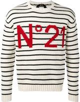 No.21 striped sweatshirt - men - Cotton - S