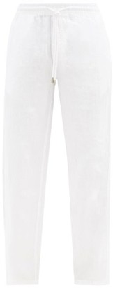 Vilebrequin Relaxed Linen Trousers - Mens - White