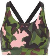 The Upside Lottie Camouflage-print Stretch Sports Bra - Army green