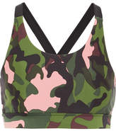The Upside Lottie Camouflage-print Stretch Sports Bra