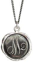 Pyrrha Unisex 925 Sterling Silver Initial M Talisman Necklace
