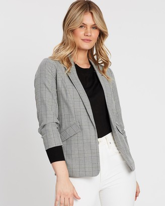 Dorothy Perkins Check Edge-to-Edge Jacket